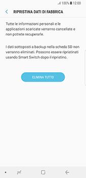 Samsung Galaxy S8 - Android Oreo - Dispositivo - Ripristino delle impostazioni originali - Fase 9
