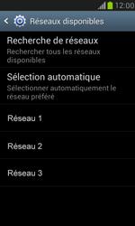 Samsung Galaxy S III Mini - Réseau - Sélection manuelle du réseau - Étape 9