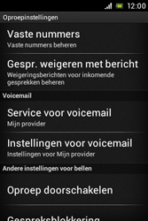 Sony ST21i Xperia Tipo - Voicemail - Handmatig instellen - Stap 5