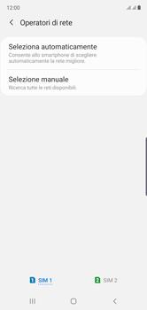 Samsung Galaxy Note 10 - Rete - Selezione manuale della rete - Fase 7