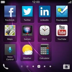 BlackBerry Q10 - Getting started - Personalising your Start screen - Step 3