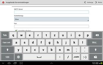 Samsung Galaxy Tab 2 10.1 - E-Mail - Manuelle Konfiguration - Schritt 10