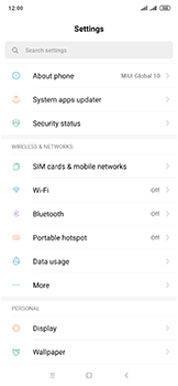 Xiaomi Mi Mix 3 5G - Internet and data roaming - How to check if data-connectivity is enabled - Step 3