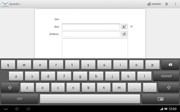 Sony SGP321 Xperia Tablet Z LTE - E-mail - e-mail versturen - Stap 4