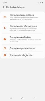 Samsung galaxy-a71-sm-a715f - Contacten en data - Contacten kopiëren van toestel naar SIM - Stap 6