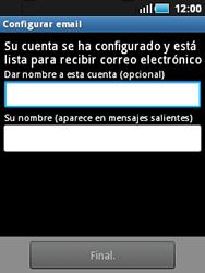 Samsung S5570 Galaxy Mini - E-mail - Configurar correo electrónico - Paso 10