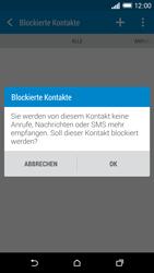 HTC One Mini 2 - Anrufe - Anrufe blockieren - 2 / 2