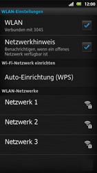Sony Xperia Sola - WLAN - Manuelle Konfiguration - Schritt 9