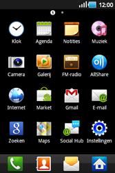 Samsung S5660 Galaxy Gio - Voicemail - Handmatig instellen - Stap 3