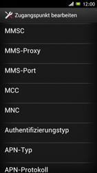 Sony Xperia J - MMS - Manuelle Konfiguration - Schritt 12