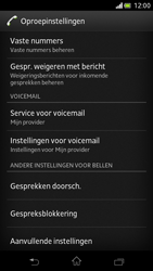 Sony LT30p Xperia T - Voicemail - Handmatig instellen - Stap 5
