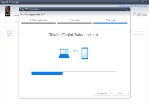 Sony Xperia Z1 Compact - Software - Eine Sicherungskopie des Geräts erstellen - Schritt 9