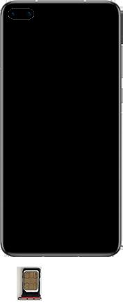Huawei P40 - Premiers pas - Insérer la carte SIM - Étape 4