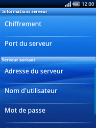 Sony Ericsson Xperia X10 Mini Pro - E-mail - configuration manuelle - Étape 13