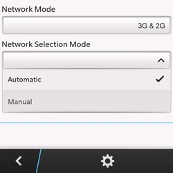 BlackBerry Q10 - Network - Manual network selection - Step 7