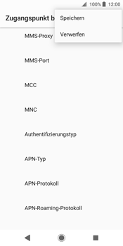 Sony Xperia XZ2 - MMS - Manuelle Konfiguration - 15 / 25