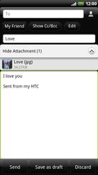 HTC X515m EVO 3D - E-mail - Sending emails - Step 11