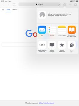 Apple iPad 9.7 (2018) iOS12 - Internet - navigation sur Internet - Étape 5