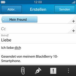 BlackBerry Q10 - E-Mail - E-Mail versenden - 1 / 1