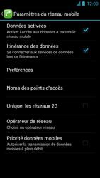Alcatel One Touch Idol - Internet et roaming de données - Désactivation du roaming de données - Étape 6