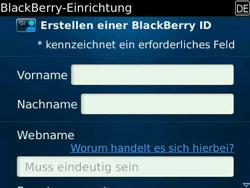BlackBerry Bold - Apps - Konto anlegen und einrichten - 10 / 19