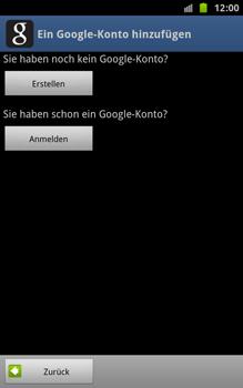 Samsung Galaxy Note - Apps - Konto anlegen und einrichten - 6 / 18