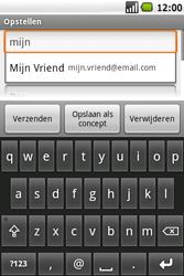 Samsung Galaxy Spica (GT-i5700) - E-mail - Hoe te versturen - Stap 7