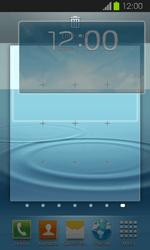 Samsung Galaxy Express - Startanleitung - Installieren von Widgets und Apps auf der Startseite - Schritt 8