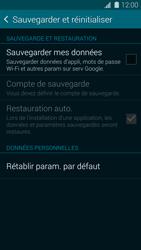 Samsung G900F Galaxy S5 - Appareil - Réinitialisation de la configuration d