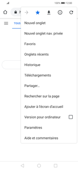 Huawei P Smart 2020 - Internet et connexion - Naviguer sur internet - Étape 12