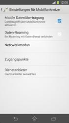 Sony Xperia Z1 - Internet und Datenroaming - Prüfen, ob Datenkonnektivität aktiviert ist - Schritt 8