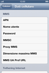 Apple iPhone 3GS - MMS - configurazione manuale - Fase 7