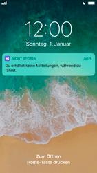 """Apple iPhone 8 - iOS 11 - Nicht stören – Sicheres Fahren – """"Do Not Disturb while Driving"""" deaktivieren (für Fahrer) - 3 / 6"""