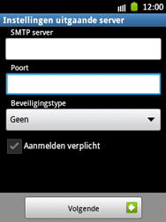 Samsung S5300 Galaxy Pocket - E-mail - Handmatig instellen - Stap 13