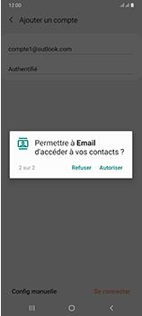 Samsung Galaxy A70 - E-mails - Ajouter ou modifier votre compte Outlook - Étape 12