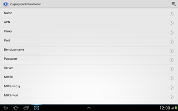 Samsung Galaxy Note 10-1 - MMS - Manuelle Konfiguration - 10 / 16