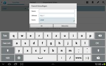 Samsung Galaxy Tab 2 10.1 - Internet und Datenroaming - Verwenden des Internets - Schritt 9