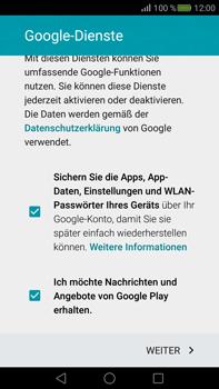 Huawei Mate S - Apps - Konto anlegen und einrichten - Schritt 16