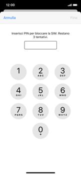 Apple iPhone XS - iOS 13 - Operazioni iniziali - Come abilitare il pin della SIM - Fase 6