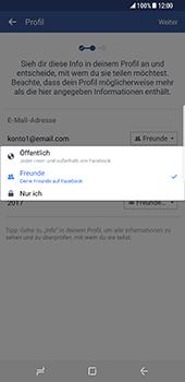 Samsung Galaxy S8 Plus - Datenschutz und Sicherheit - Datenschutzeinstellungen von Facebook ändern - 12 / 35