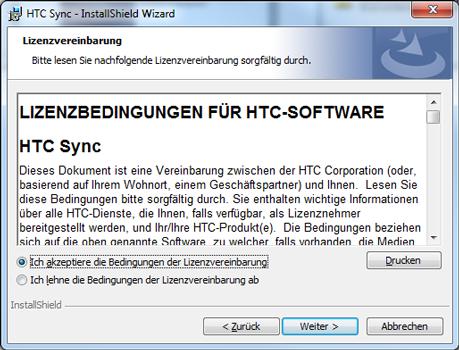 HTC Desire X - Software - Installieren von Software zur PC-Synchronisierung - Schritt 8