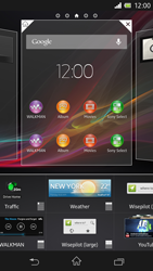 Sony Xperia Z - Getting started - Installing widgets and applications on your start screen - Step 4