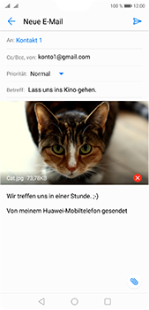 Huawei P20 Pro - E-Mail - E-Mail versenden - 2 / 2