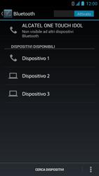 Alcatel One Touch Idol - Bluetooth - Collegamento dei dispositivi - Fase 7