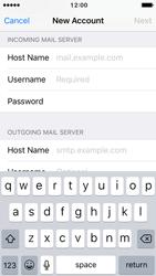 Apple iPhone SE - iOS 10 - E-mail - Manual configuration - Step 13