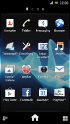 Sony Ericsson Xperia Ray mit OS 4 ICS - Apps - Konto anlegen und einrichten - 3 / 18