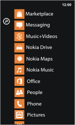 Nokia Lumia 800 / Lumia 900 - Applications - Setting up the application store - Step 3