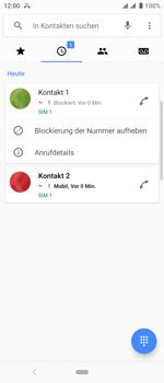 Sony Xperia 10 - Anrufe - Anrufe blockieren - Schritt 7
