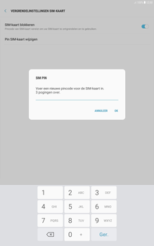 Samsung galaxy-tab-a-10-1-android-oreo - Beveiliging en ouderlijk toezicht - Hoe wijzig ik mijn SIM PIN-code - Stap 9