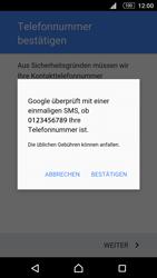 Sony E5603 Xperia M5 - Apps - Konto anlegen und einrichten - Schritt 9